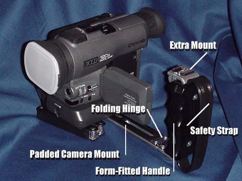 The Stable-Cam can be used with an either hand grip or no grip. - The Stable-Cam is the camcorder accessory everyone needs and anyone can use - stable-cam, glidecam, improve your home videos, steadicam, camcorder, steadycam, steady cam, accessory, accessories, camcorder accessories, video production, consumer camcorders, camcorders, electornic image stabilization.
